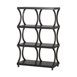 Homestar 4 Shelf with 6 Compartment Bookcase in Espresso