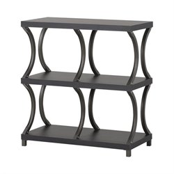 Homestar 3 Shelf with 4 Compartment Bookcase in Espresso