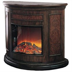 Yosemite Alpine Electric Fireplace in Brown