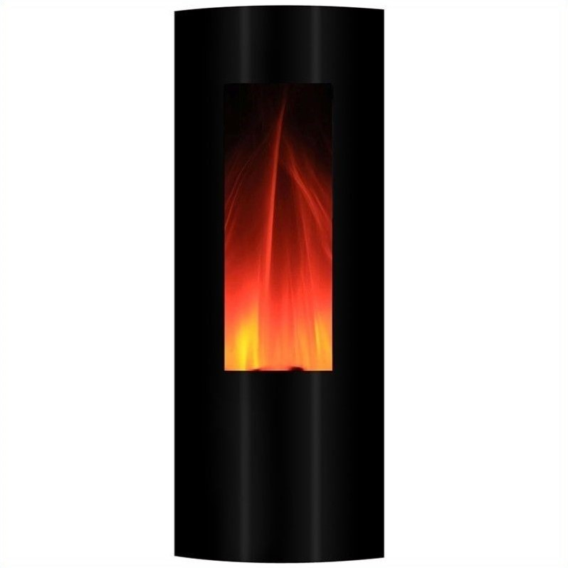 Yosemite Symphonic 42'' Tower Wall-Mount Electric Fireplace in Black