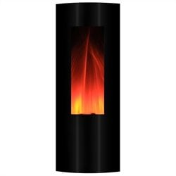 Yosemite Tower 42'' Wall-Mount Electric Fireplace in Black