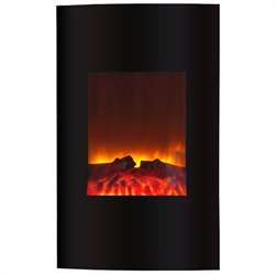 Yosemite Venus Wall-Mount Electric Fireplace in Black
