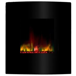 Yosemite Vision Wall-Mount Electric Fireplace in Black