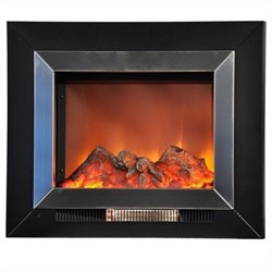 Yosemite Aries 24'' Stainless Steel Wall-Mount Electric Fireplace