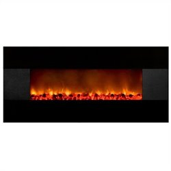 Yosemite Symphonic Carbon Wall-Mount Electric Fireplace in Black
