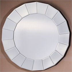Yosemite Round Mirror with White Finished Frame