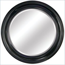 Yosemite Round Round Black Framed Mirror