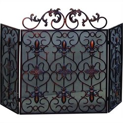 Yosemite Decorative Fireplace Iron Screen