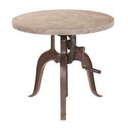 Yosemite Adjustable Bistro Table in Cement Coating