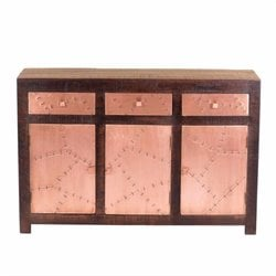 Yosemite Storage Sideboard in Aged Copper and Espresso
