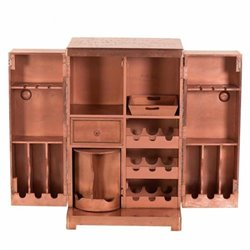 Yosemite Wine Cabinet in Aged Copper