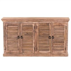 Yosemite Shutter Door Sideboard in Natural Distressed