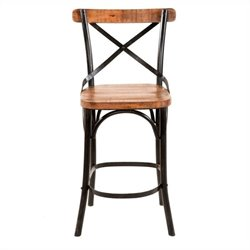 Yosemite Barstool in Distressed Metal Frame
