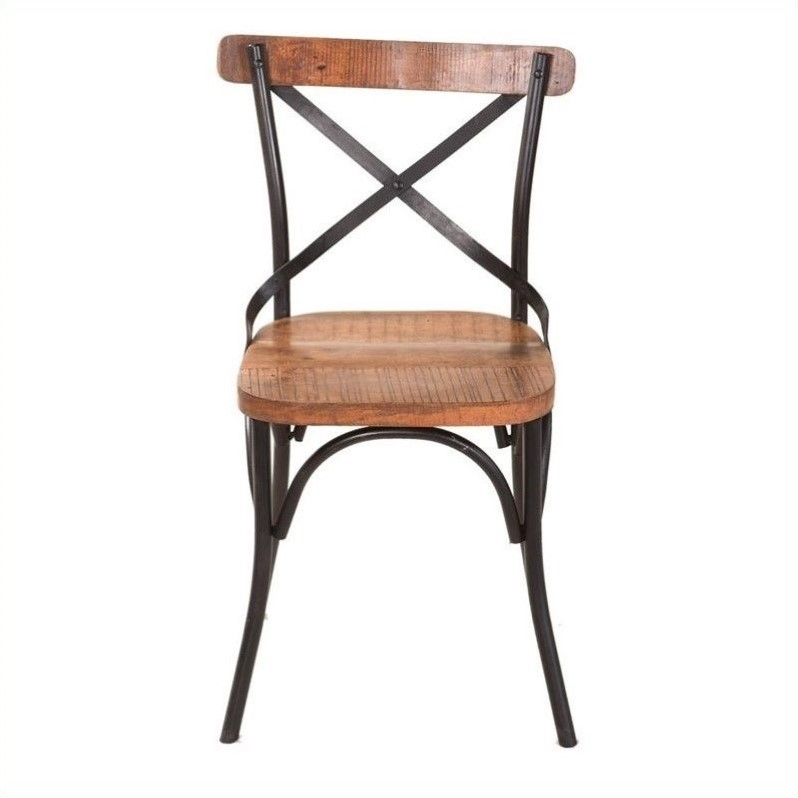 Yosemite Accent Chair in Distressed Metal Frame