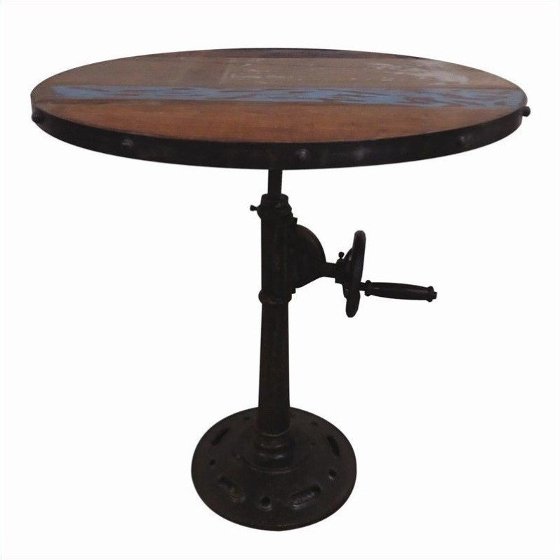 Yosemite Adjustable Pub Table With Iron Base YFUR SBA5345