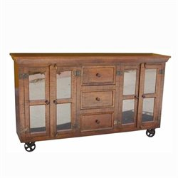 Yosemite Storage Display Cabinet in Light Coffee
