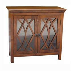 Yosemite Transitional Display Cabinet in Light Coffee
