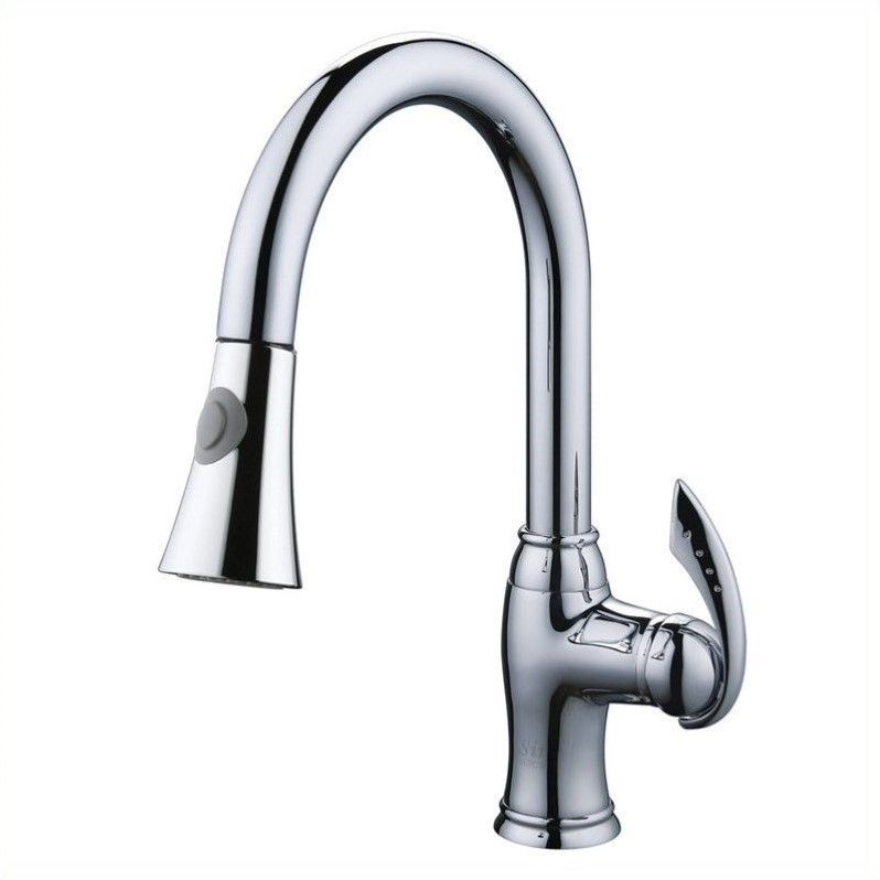 Yosemite Kitchen Faucet with Pull-Out Sprayer in Polished Chrome