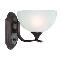 Yosemite Home Decor Glacier Point 1 Light Vanity Lighting in Dark Brown