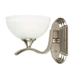 Yosemite Home Decor Glacier Point 1 Light Vanity Lighting in Satin Nickel