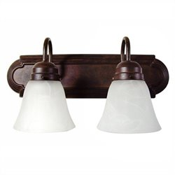 Yosemite Home Decor 2 Lights Vanity Lighting in Dark Brown