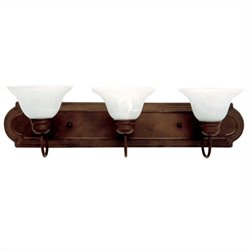 Yosemite Home Decor 3 Lights Vanity Lighting in Dark Brown