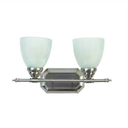Yosemite Home Decor 2 Lights Vanity Lighting in Brush Nickel