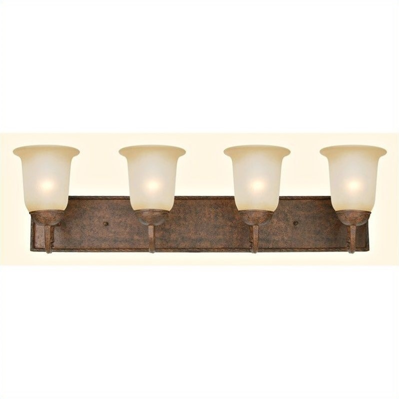 Yosemite Home Decor Mckensi 4 Lights Vanity Lighting in Bronze Patina