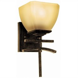 Yosemite Home Decor Sentinel 1 Light Vanity Lighting in Venetian Bronze Frame
