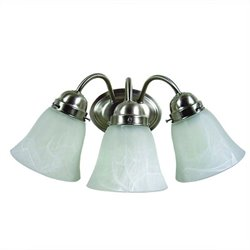 Yosemite Home Decor 3 Lights Vanity Lighting in Satin Nickel