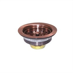 Yosemite Electroplated 3.5 inch Strainer Drain in Copper
