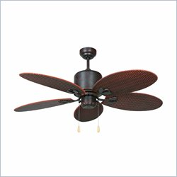 Yosemite Home Decor Tropical Breeze 48inch Oil Rubbed Bronze Outdoor Ceiling Fan