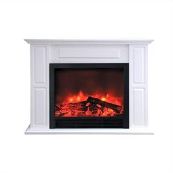 Yosemite Home Decor 53inch White Wooden Mantel Package