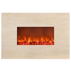 Yosemite Home Decor 38inch Wall-mount Fireplace Beige