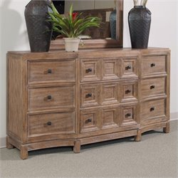 A.R.T. Furniture Ventura 9 Drawer Dresser in Cerused Oak