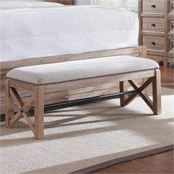 A.R.T. Furniture Ventura Bench in Cerused Oak