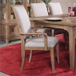 A.R.T. Furniture Ventura Dining Arm Chair in Cerused Oak