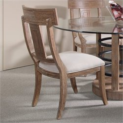 A.R.T. Furniture Ventura Splat Back Dining Side Chair in Cerused Oak