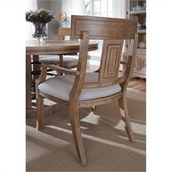 A.R.T. Furniture Ventura Splat Back Dining Arm Chair in Cerused Oak