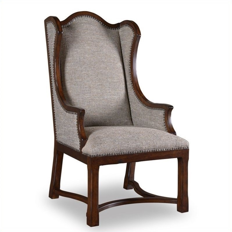 A r t furniture egertonupholstered arm dining chair for A r t dining chairs
