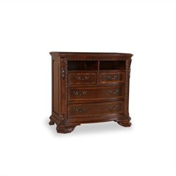A.R.T. Furniture Old World Media Chest in Rich Pomegranate