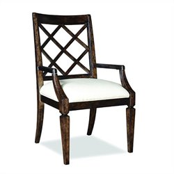 A.R.T. Furniture Classics Lattice-BackArm Dining Chair in Brindle