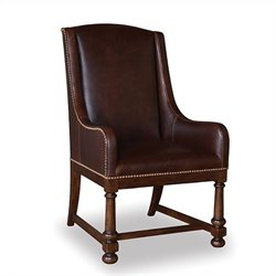A.R.T. Furniture Whiskey Oak Leather Host Arm Chair in Warm Barrel Oak