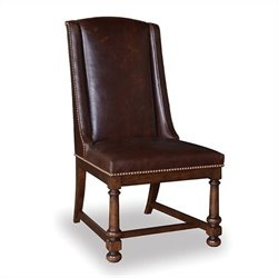 A.R.T. Furniture Whiskey Oak Leather Side Chair in Warm Barrel Oak