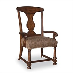 A.R.T. Furniture Whiskey Oak Splat-back Arm Chair in Warm Barrel Oak