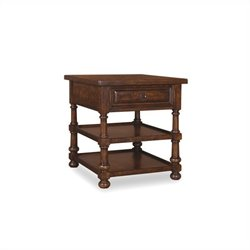 A.R.T. Furniture Whiskey Oak End Table in Warm Barrel Oak