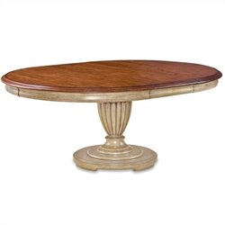 ART Furniture Provenance Round Dining Table Top in English Toffee