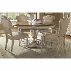 ART Furniture Provenance 5-Piece Round Dining Set in English Toffee