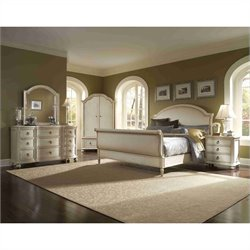 ART Furniture Provenance Sleigh Bed Bedrrom Set in Linen