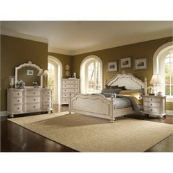 ART Furniture Provenance Panel Bed Bedroom Set in Linen